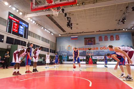 SAMARA, RUSSIA DECEMBER 01: BC CSKA center Nenad Krstic (12) prepares to shoot a free throw during the BC Krasnye Krylia game on December 01, 2013 in Samara, Russia.