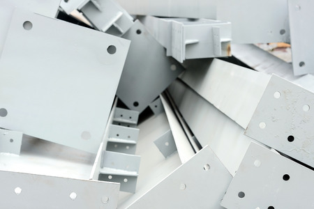 Heavy industry metal parts manufacturing - stock photo Standard-Bild