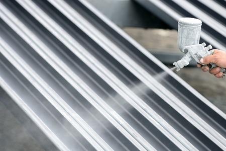 Zware industrie metalen onderdelen schilderij - stock photo Stockfoto