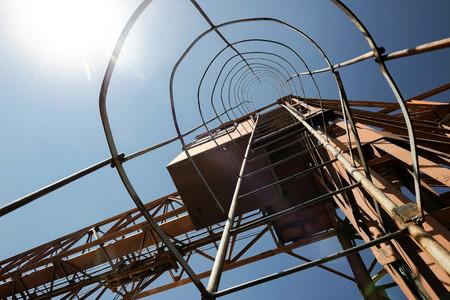 Heavy industry crane stairs - stock photo Standard-Bild