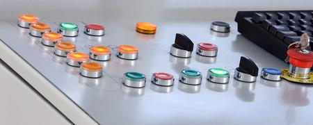 Buttons steuert Herstellungsprozess - stock photo Standard-Bild - 43207484