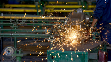 Heavy industry metal parts manufacturing - stock photo Standard-Bild