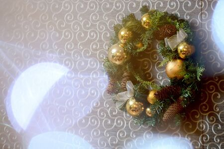decorations wreaths: Merry Christmas and Happy New Year!