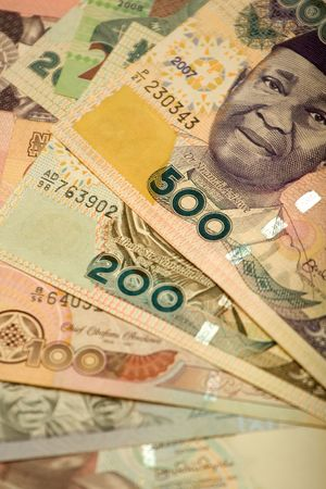 country nigeria: The naira is the currency of Nigeria. Stock Photo