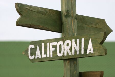 Wooden Mile signpost to California photo