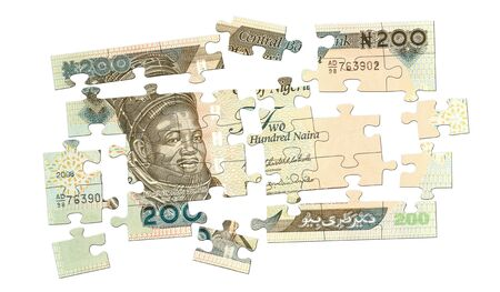 Cash Puzzle from 200 naira banknote