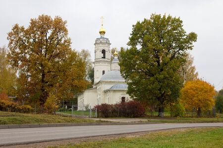 ortodox: White ortodox church Stock Photo