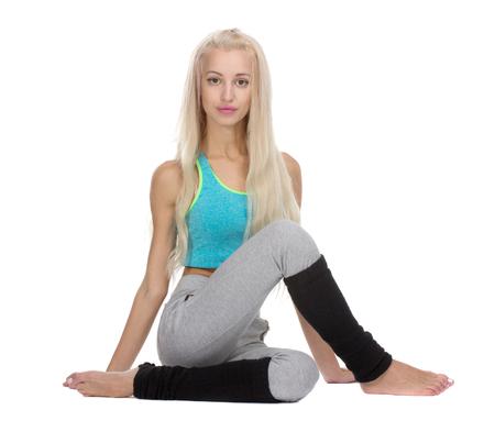 ardha: Yoga poses. Ardha Matsyendrasana variation