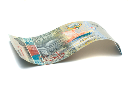 dinar: 1 Kuwaiti dinar bank note. Kuwaiti dinar is the national currency of Kuwait