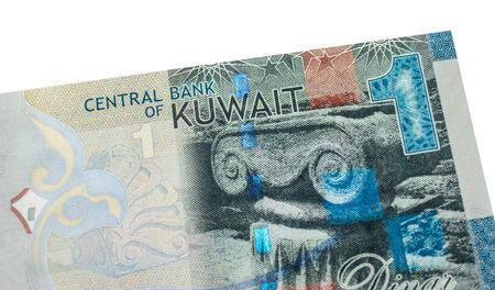 arabic currency: 1 Kuwaiti dinar bank note. Kuwaiti dinar is the national currency of Kuwait