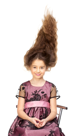 flying hair: Pretty girl with flying hair style