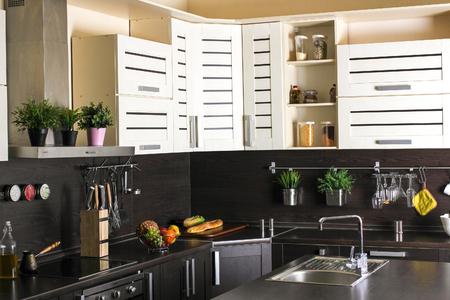 Beautiful house, moderm kitchen interior