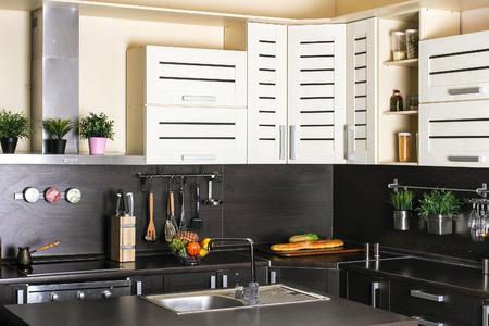 moderm: Beautiful house, moderm kitchen interior