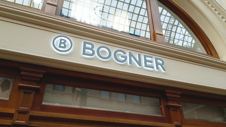 JUN 30, 2018, MOSCOW, RUSSIA Bogner Store Sign in GUM MOSCOW Sajtókép