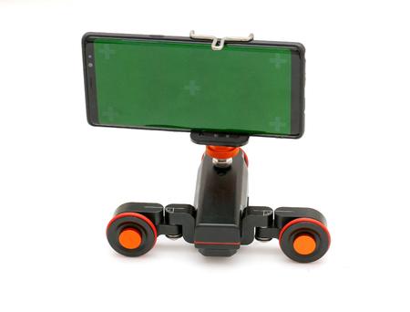 Motorized Camera Table Dolly isolated on white