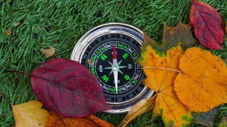 Compass With The Tag North outdoors.