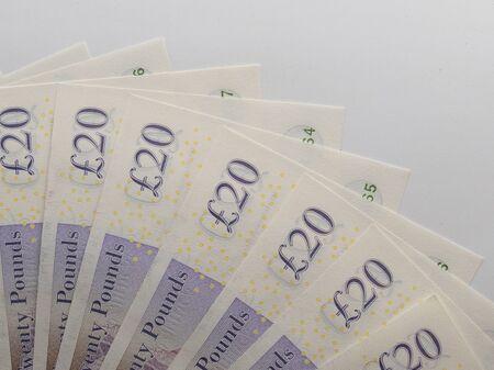 UK Pound Banknotes elements Close up