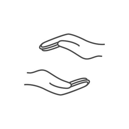 Help hand icon. Vector illustration, flat design.