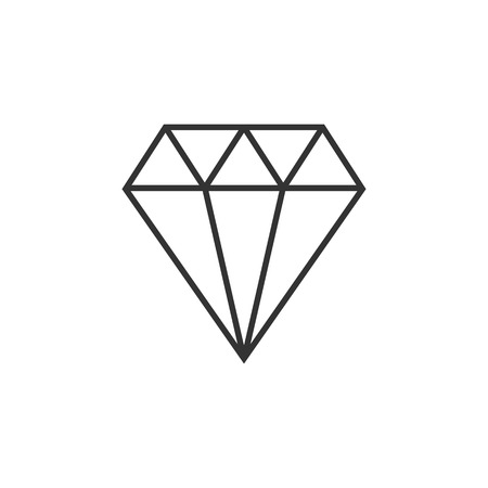 Jewelry symbol. Diamond Vector illustration flat