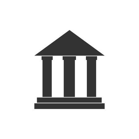 Tribunal, edificio bancario icono Vecto