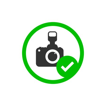 Camera icon. Photo allowed sign. Vector illustration flat