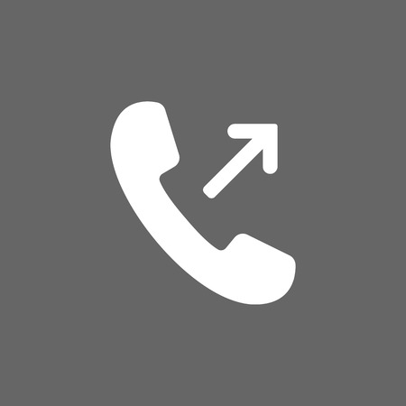 Outgoing, incoming call icon. Vector illustration. Flat design. Ilustración de vector