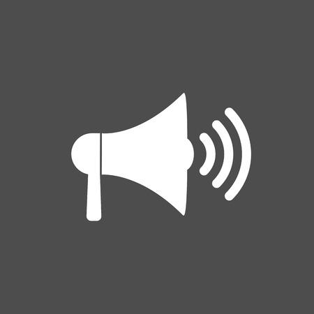 Loudspeaker, megaphone icon. Vector illustration, flat design. 向量圖像