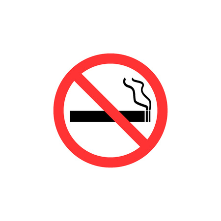 No smoking sign. Flat design, vector illustration.