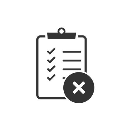 Checking, checklist, document, list verification icon Vector illustration flat Ilustração