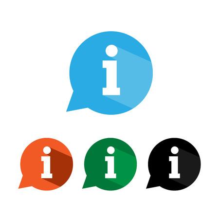 Information icon, info sign, vector illustration. Flat design. Illusztráció