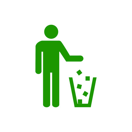 Garbage symbol. Do not litter sign. Trash icon. Logo on white background. Flat vector illustration.