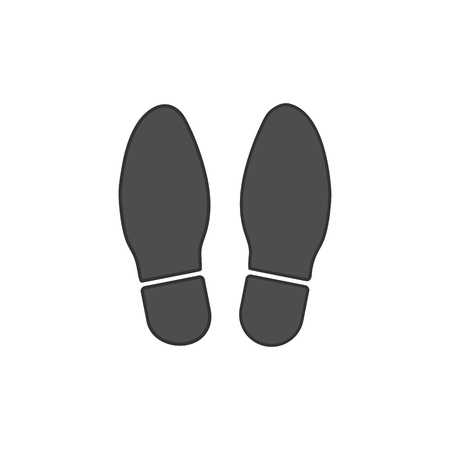 Shoe print icon. Vector illustration flat