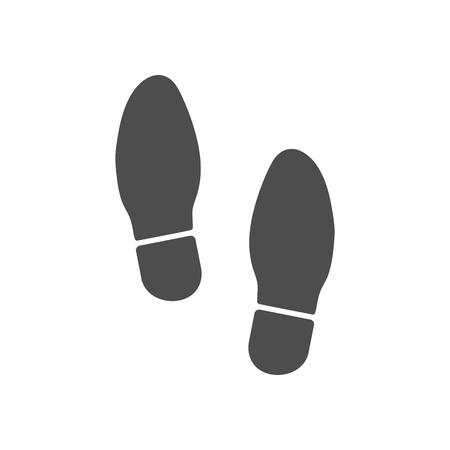 Icône d'impression de chaussure. Illustration vectorielle plate Vecteurs