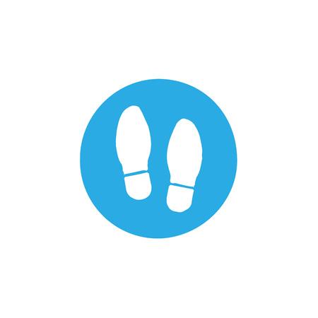 Shoe print icon. Vector illustration flat