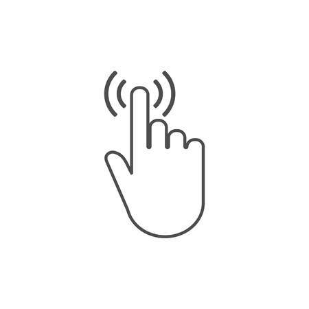 Click hand icon. Vector illustration. Flat design Illustration