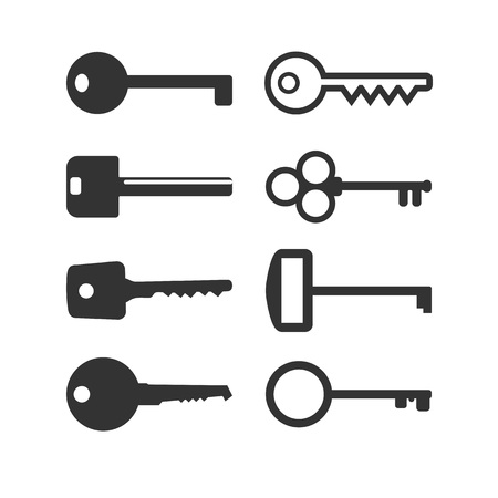 Key icon. Set Vector illustration flat