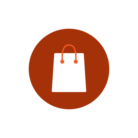 Shopping bag icon. Vector illustration Flat