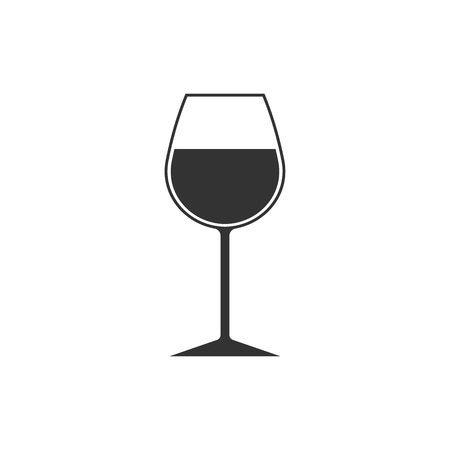 Wine glass icon. Goblet symbol. Vector Flat design