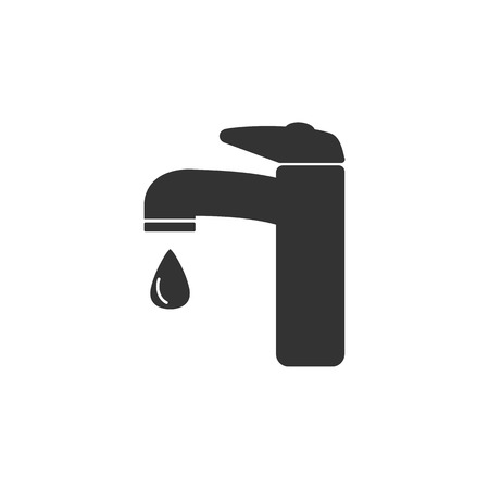 Faucet icon, water tap sign. Vector illustration Flat Illustration