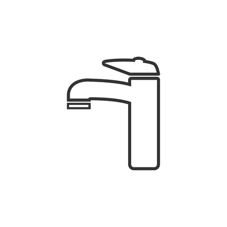 Faucet icon, water tap sign. Vector illustration Flat Vectores