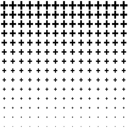 Black and white abstract plus sign seamless, pattern Stock Illustratie
