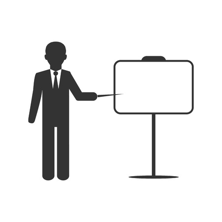 Busines flip chart icon. Vector illustration, flat