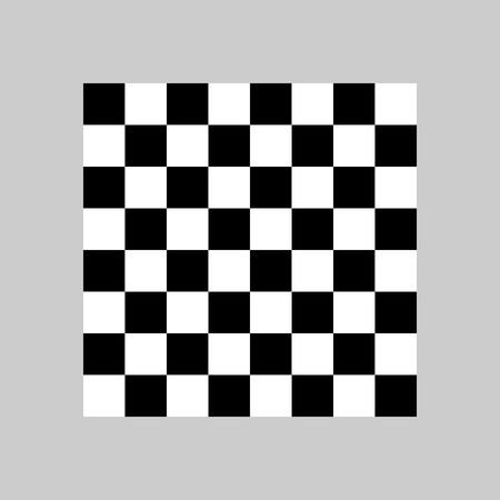 Vector illustration, flat design Board chess Çizim