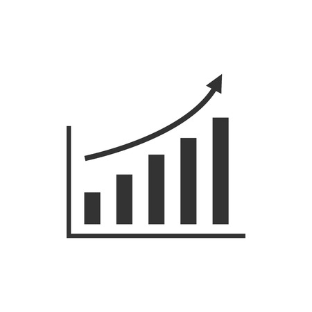 Vector illustration, flat design Graph chart Ilustração