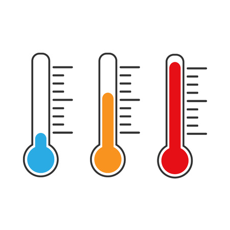 Thermometer icon, vector illustration. Cold Hot Normal weather