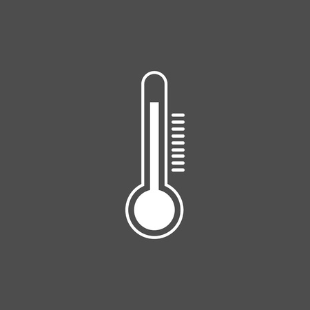 Thermometer icon , vector illustration flat Temperature