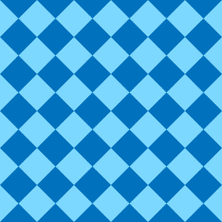 Chess board, seamless pattern. Vector illustration. Blue