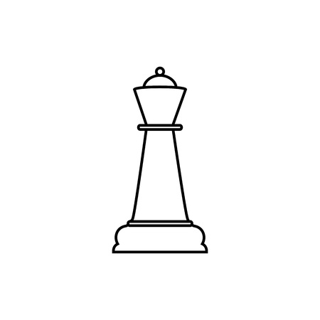 Quenn chess icon. Vector illustration flat