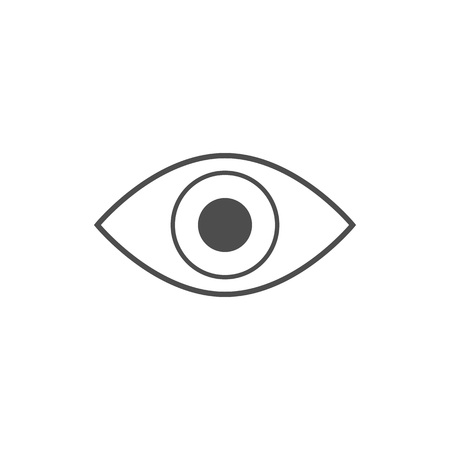 Eye icon. Vector illustration. Simple flat design. Banque d'images - 114932454