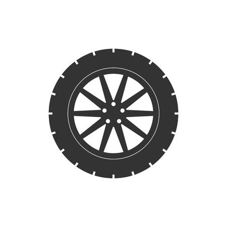 Illustration vectorielle, design plat. Icône de pneu de transport